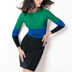 Adrianna Papell  Color Block Midi Cocktail Dress 8